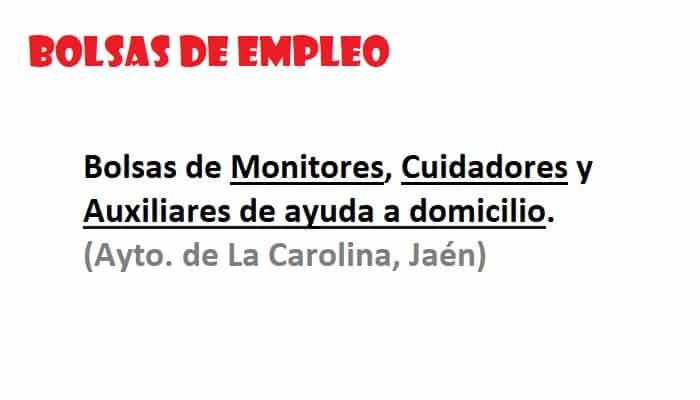 bolsas La Carolina Jaén